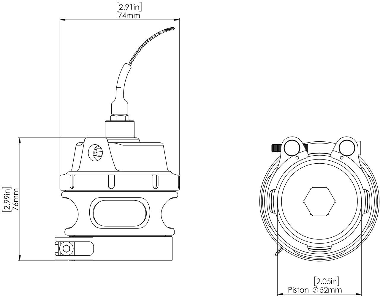 Gen-V Race Port Sensor Cap